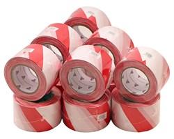 Оградительная лента бело красная Эконом ЛО-250/75 - фото 17061