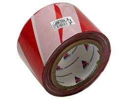 Оградительная лента бело красная Стандарт ЛО-100/75 - фото 17064