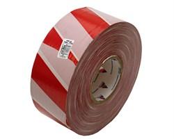 Оградительная лента бело красная Эконом ЛО-500/75 - фото 17067
