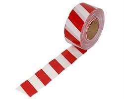 Оградительная лента бело красная Стандарт ЛО-500/75 - фото 17069