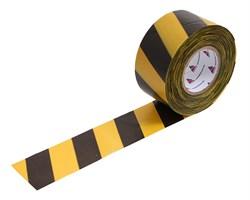 Оградительная лента желто черная Стандарт ЛО-500/75 - фото 17070