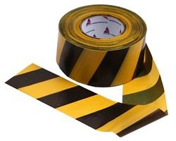 Оградительная лента желто черная Эконом ЛО-500/75 - фото 17081