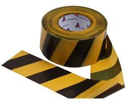 Оградительная лента желто черная Стандарт ЛО-250/75 - фото 17084