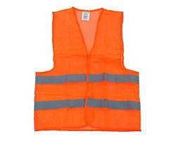 Жилет сигнальный оранжевый 3XL Эконом - фото 17131