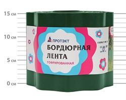 Лента садовая бордюрная Гофра Б-15/9 хаки 14 см х 9 м - фото 17178