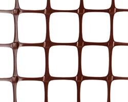 Пластиковая сетка садовая ЗР-15, 1*20 м, коричневая - фото 17364