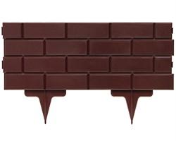 Садовое ограждение для клумб Кирпич коричневое 19 см * 2,5 м - фото 17487