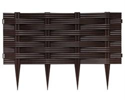 Ограждение для клумб Ива коричневое 25 см * 2,4 м - фото 17502
