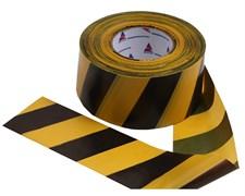 Оградительная лента желто черная Стандарт ЛО-250/75