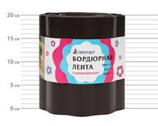 Лента садовая бордюрная Гофра Б-20/9 коричневая 19 см х 9 м