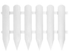 Садовое ограждение Штакетник белое 40 см * 2,4 м