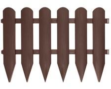 Садовое ограждение Штакетник коричневое 40 см * 2,4 м