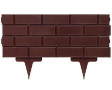 Садовое ограждение для клумб Кирпич коричневое 19 см * 2,5 м