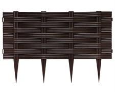 Ограждение для клумб Ива коричневое 25 см * 2,4 м