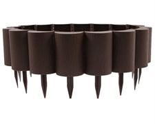 Садовое ограждение бордюр Пеньки коричневый 15 см * 1,6 м