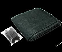 Затеняющая сетка фасованная 55% 2*10 м клипсы в комплекте