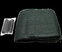Затеняющая сетка фасованная 80% 2*10 м клипсы в комплекте